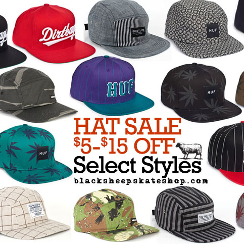Online Special: Snapback &#038; 5 Panel Hat Sale $5-$15 Off Select Styles In Our Web Store