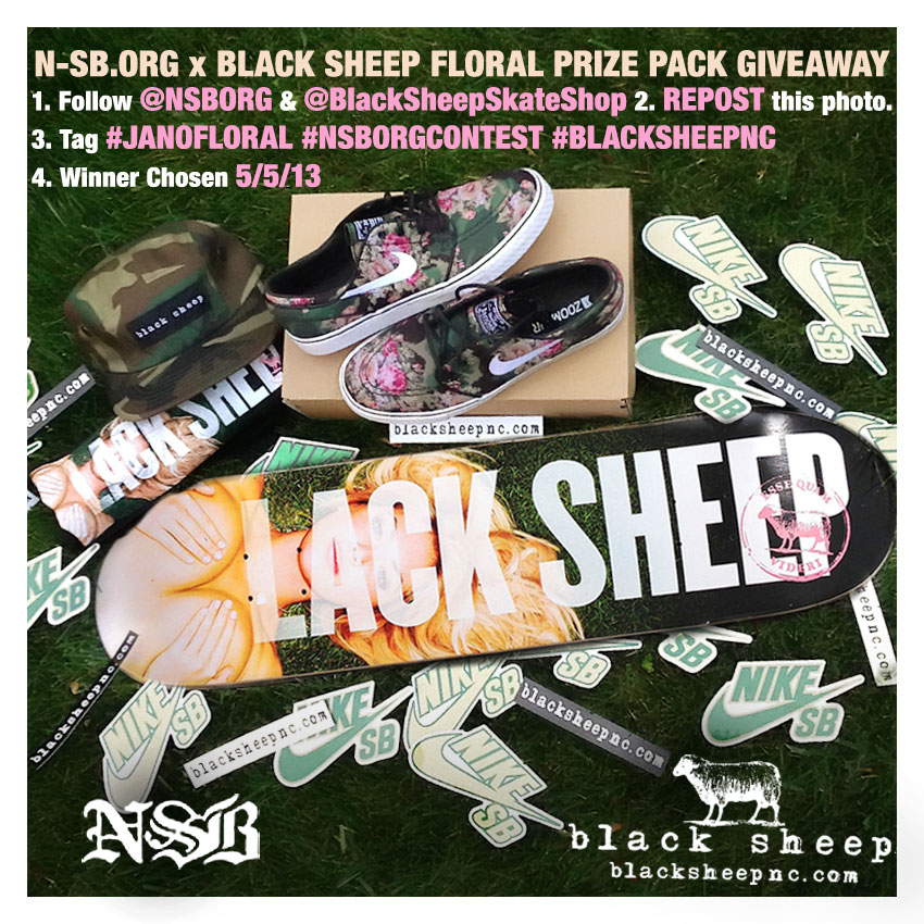 N-SB.org x Black Sheep Instagram Contest Floral Prize Pack Giveaway